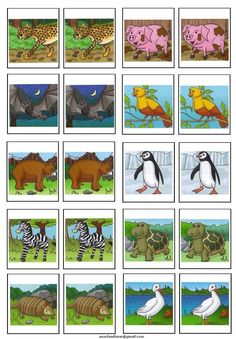 Easy memory game with animals Preschool Colors, Preschool Activities, Memory Games For Kids, Art For Kids, Ss Lesson, Sunday School Crafts For Kids, Safari Party, Bible Crafts, Cool Baby Stuff