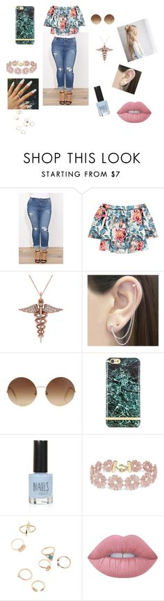 """""""All Types of Beautiful"""" by nikki947 on Polyvore featuring Elizabeth and James, Allurez, Otis Jaxon, Victoria Beckham, Richmond & Finch, Topshop, BaubleBar and Lime Crime"""