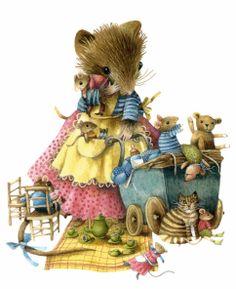 Moeder en Kids Picknicken