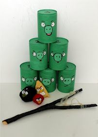 Angry Birds can throw from old cans. Not a new idea, but really . Angry Birds can throw from old cans. Not a new idea, but really cute design! Camping Activities For Kids, Games For Kids, Fun Activities, Diy For Kids, Crafts For Kids, Diy Crafts, Camping Games, Backyard For Kids, Backyard Games