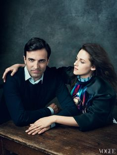 Nicolas Ghesquière and Kristen Stewart in Balenciaga by Nicolas Ghesquière for Vogue US September 2012 by Norman Jean Roy