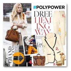 """""""#PolyPower - Dree Hemingway Powers Up In A Cream Suit"""" by nikkisg ❤ liked on Polyvore featuring Whiteley, Isabel Marant, Étoile Isabel Marant, Schutz, isabelmarant, dreehemingway and PolyPower"""