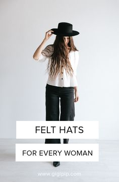 66b632dceb7fd The felt hat collection from Gigi Pip has a wide range of women s hat  styles including