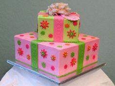 flower square birthday cake Adult Birthday Cakes Ideas