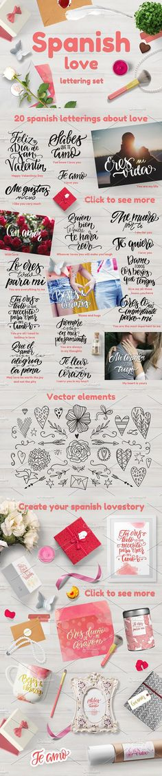 Spanish Love - overlay collection. Photoshop Brushes. $10.00