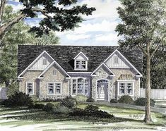 Cottage House Plan with 2391 Square Feet and 3 Bedrooms(s) from Dream Home Source | House Plan Code DHSW73563