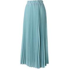 Chicwish Chiffon Seafoam Pleated Maxi Skirt (120 PEN) ❤ liked on Polyvore featuring skirts, long blue skirt, chiffon skirts, long skirts, maxi skirts and blue chiffon maxi skirt