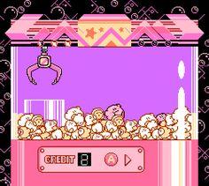 Crane game from Kirby's adventure on NES Overlays, 8 Bits, 8bit Art, Anime Pixel Art, Kawaii Background, Japon Illustration, Retro Videos, Retro Gamer, Hippie Art