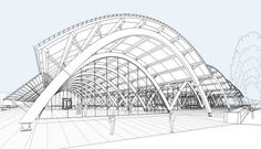 Bodegas Protos - Maridaje entre vino y arquitectura Shell Structure, Dome Structure, Steel Structure Buildings, Factory Architecture, Art And Architecture, Architecture Details, Hadid Architect, Architect Drawing, London Aquatics Centre