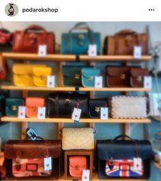 #tbt to our range of @yoshibags from early '15 and my how it's grown since! If you fancy a biscuit bag or two then keep your eyes peeled for the new collection dropping soon!  #leather #bags #satchels #biscuits #bags #handbag #cute #bright #british