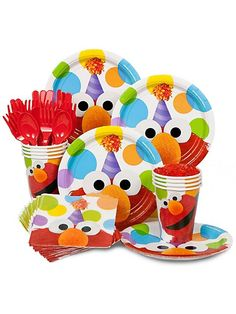 Cute, price is right and you could add plain red and orange plates and utensils