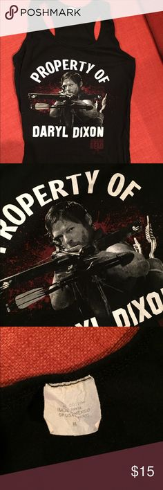 Daryl Dixon Racerback Tank Who doesn't love Daryl? Walking Dead fans come and get it! Racerback tank. Size medium. Hot Topic Tops Tank Tops