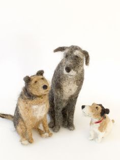 Domenica More Gordon | Dog Shows | Tokyo 2010   needle felted dogs.