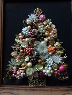 Vintage Rustic Jewelry Art Christmas Tree Jewelry