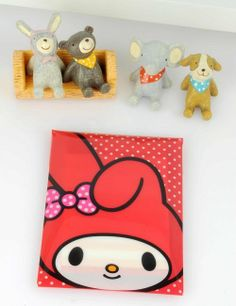 My Melody Notes Memo Pad Mini Letters w/ Folder Face Red Sanrio
