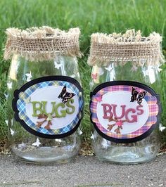 Perfect for summertime fun :) Fireflies and bug catching jars with @Spellbinders