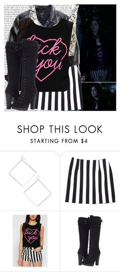 """""""Aria- That girl is poison"""" by elenadobrev90 ❤ liked on Polyvore featuring Wet Seal, H&M, Topshop, Feather Hearts and Charles by Charles David"""