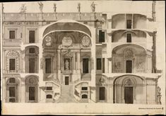 Project for the staircase of the Royal Palace of Madrid Spanish Anonymous 1742
