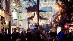 "Seasonal sing-alongs on Dublin's Grafton Street. Fancy wishing someone Happy Christmas in Irish? 'Nollaig Shona Duit' (NO-lihg HO-nuh ghwich) translates roughy as 'Happy Christmas to you'. In Ulster Scots (or Ullans) the words are ""Ablythe Yuletide"". Different words, same message – and all on the one island!"