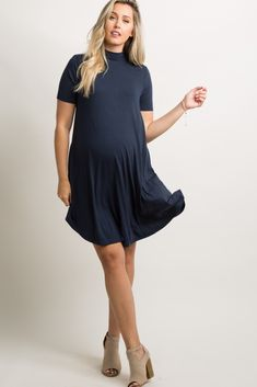 Shop cute and trendy maternity clothes at PinkBlush Maternity. We carry a wide selection of maternity maxi dresses, cute maternity tanks, and stylish maternity skinny jeans all at affordable prices. Maternity Fashion, Maternity Dresses, Stylish Maternity, Mommy Style, Her Style, Baby Shower Dresses, Everyday Dresses, Pink Blush Maternity, V Neck Dress