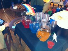 All the kids (and adults) enjoyed the Leprechaun's rainbow potions!