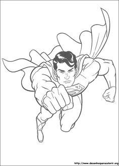 Super Herois para colorir. Desenho para imprimir !