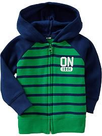 Striped Zip-Hoodies for Baby
