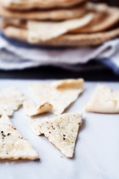Parmesan Pita Crisps | simple method to glam up any appetizer or dip @cupcakeMAG