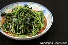 Rau Den Xao Chao (Vietnamese Amaranth  Chinese Red Spinach Sauteed with Fermented Bean Curd)