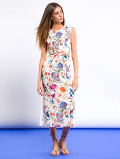 VESTITO NODOS #metjeans #metloves #sprinsummer17 #ss17 #collection #spring #summer #outfit #fashion #womenfashion #women #apparel #jeans #denim #flowers