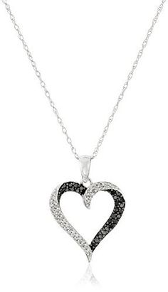 "10k White Gold Black and White Diamond Heart Pendant Necklace (1/3 cttw), 18"", http://www.amazon.com/dp/B004H8FGLE/ref=cm_sw_r_pi_awdm_5IEawb1NE6D9Z"