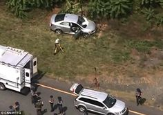 Flanagan led police on a chase before he crashed the Chevy Sonic he rented from an airport (above)
