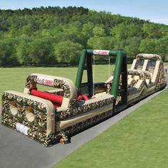Boot Camp Challange - Massive Inflatable Military Obstacle Course
