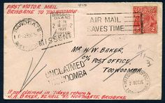 314817 - Lot 19 - Australia Covers - Postal History Covers - 1935 Australia 2d GV cover First Motor Mail… / MAD on Collections - Browse and find over 10,000 categories of collectables from around the world - antiques, stamps, coins, memorabilia, art, bottles, jewellery, furniture, medals, toys and more at madoncollections.com. Free to view - Free to Register - Visit today. #Stamps #PostalHistory #MADonCollections #MADonC