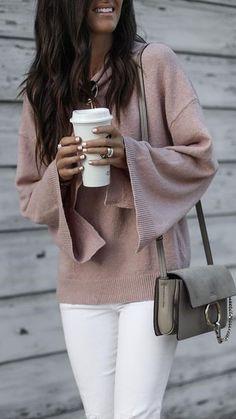 #fall #outfits brown crewneck sweatshirt
