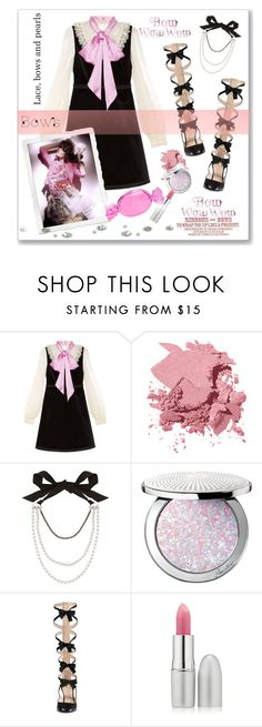 """Put a bow on it🎀"" by fashionlibra84 ❤ liked on Polyvore featuring Gucci, Bobbi Brown Cosmetics, Lanvin, Guerlain, TheBalm and Kate Spade"
