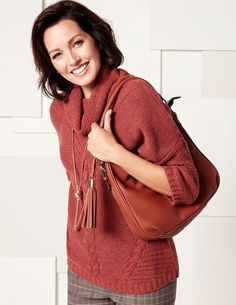 Chili Cowl Cable Knit Sweater
