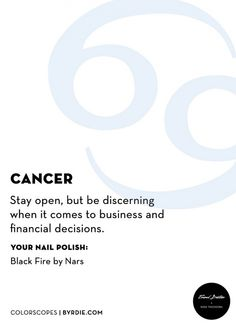 Cancer: your February nail horoscope