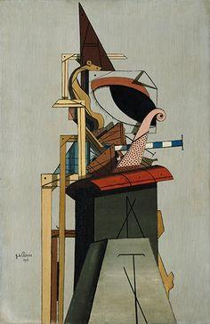 Giorgio de Chirico L'angelo ebreo (L'ange juif), 1916 Olio su tela, cm 67,5 x 44  New York, Metropolitan Museum of Art, Jacques and Natasha Gelman Collection, 1998 - Opera in mostra