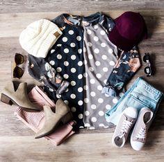 Polka dot tops | LucyAve.com
