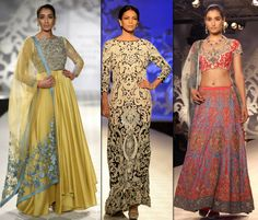 Varun Bahl presented a modern Indian-wear such as anarkalis, sairs and lehengas,that celebrate India's wealth of traditional crafts. His designs had applique work, rose motifs, hand embroidery, layering as key elements. http://fashiontrendsandtipsblog.wordpress.com/2014/07/24/india-couture-week-2014/