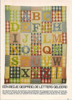 Quilt Inspiration: ABC's of Quilting (Alphabet Quilts) | One day ... : alphabet baby quilt pattern - Adamdwight.com