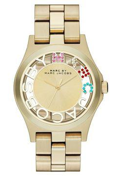 MARC BY MARC JACOBS  Henry Skeleton Glitz  Bracelet Watch, 40mm