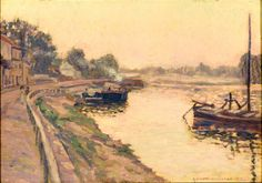 By River Seine by FREDERICK O'NEILL GALLAGHER - Cider House Galleries