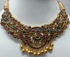 Kundan Peacock Choker Jhumkas - Jewellery Designs More