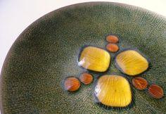 Copper Enamel Plate by Annemarie Davidson