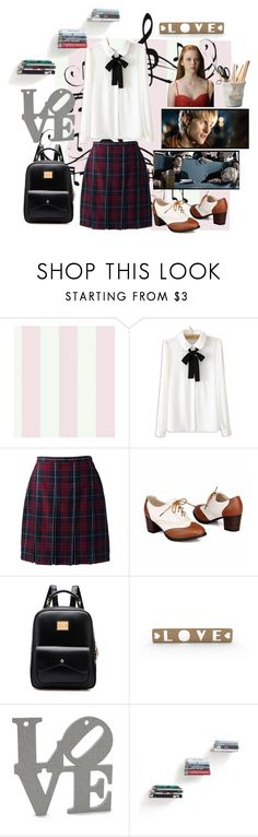 """""""Untitled #257"""" by pure-vnom ❤ liked on Polyvore featuring York Wallcoverings, Music Notes, Hemingway, WithChic, Lands' End, Umbra and ESSEY"""