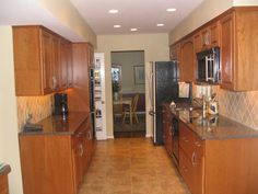Similar layout to our kitchen...picture of how it might look if it was updated