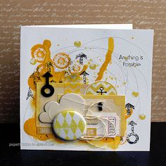 Riikka Kovasin - Paperiliitin: Anything is Possible card - GDT Um WOW Studio