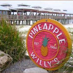 Pineapple Willy's in Panama City, Florida Panama City Beach Restaurants, Panama City Beach Florida, Florida Vacation, Florida Travel, Panama City Panama, Florida Beaches, Vacation Trips, Visit Florida, Destin Florida